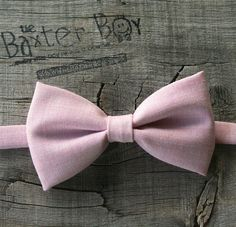 Light pink polyester little boy bow tie   photo by TheBaxterBoy, $12.50