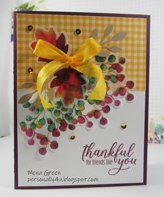 Personally Yours: August Paper Pumpkin Kit - Thankful for Friends. Fall Cards, Winter Cards, Christmas Flyer, Christmas Cards, Thankful For Friends, Diy And Crafts, Paper Crafts, Stampin Up Paper Pumpkin, Pumpkin Cards