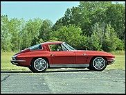 1963 Chevrolet Corvette Split Window Coupe   327/360 HP, Red/Saddle