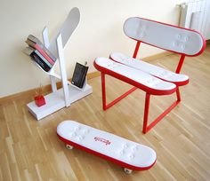 Skateboard Furniture Design by Skate-Home