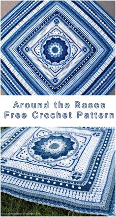 Free Crochet Pattern Hello! Around the Bases is a crochet project stitch sampler that transforms YOUR most loved focus hinder into an afghan. It can be made with any square or rectangle theme, utilizing any yarn weight. The written pattern is below. If you like this post give us the Like SAVE THIS PATTERN TO …