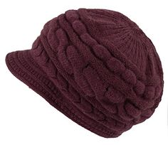 Jemis Peaked Cap Women Hat Winter Caps Knitted Hats for Woman (Dark Red) Winter Cap For Girl, Winter Hats For Women, Winter Caps, Christmas Lingerie, Fashion Outfits, Womens Fashion, Latest Fashion, Classy Men, Keep Warm