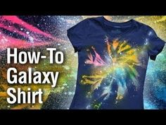 Tie Dye Your Summer | galaxy tie-dye technique
