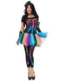 Funky Punky Bones Adult Womens Costume