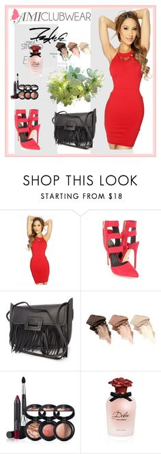 """""""amiclubwear 18"""" by aida-1999 ❤ liked on Polyvore featuring Urban Decay, Laura Geller and Dolce&Gabbana"""