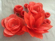 Wafer paper flower tutorial cake bling pinterest wafer paper red wafer paper flowers project on craftsy mightylinksfo