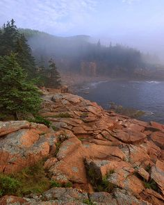 Morning fog along granite coastline of Maine, Acadia National Park, Maine - where we took our Honeymoon Best Places To Camp, Camping Places, Places To See, Acadia National Park, National Parks, Beautiful World, Beautiful Places, Acadia Maine, East Coast Usa