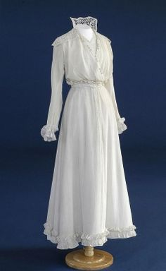 The Bowes Museum: Wedding Dress, 1919. I dunno, looks more like an inexpensive summer day dress.