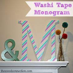 Washi Tape Monogram