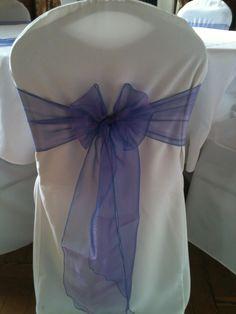 lilac/purple two tone organza sash