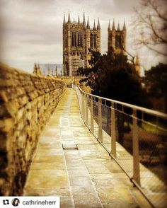Lincoln Cathedral from Lincoln Castle's medieval wall. #Repost