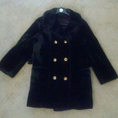 "Vintage Faux Fur Coat 60s 70s Boho Classic 'with the band' 60s 70s vtg black faux fur coat. Fully lined. Gold buttons. Has lil sewn on furry belt loops, no belt included. No size tag. Fits various sizes. Shown on 5'8"" size small. Some minor flaws in fur from age/wear & mild pilling/matting. Could use a dry clean. Few tiny tears in satin lining. Well made boho hippie mod coat. Fuzzy. Tags free people h&m Vintage Jackets & Coats"