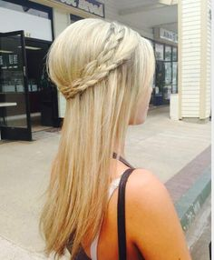 #WrapAroundBraid and a simple #flatIron Easy for any day summer or not