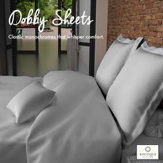 #BoutiqueLiving's #DobbySheets offer single stitch; tone on tone effect fabrics in 400TC for refined elegance! #BedroomDecor #Bedroom #HappyPlace #Comfort #Bedding #Luxury