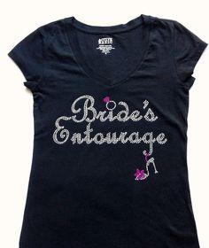 Bride's Entourage TShirt Top. Team bride VNeck. by JWBridalShop, $14.50