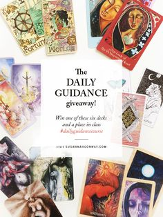 The lovely Susannah Conway is having a giveaway on her site!  http://www.susannahconway.com/2016/01/why-i-love-the-cards-and-a-giveaway/  #dailyguidancecourse