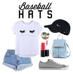 """Baseball Hats"" by sydnie0517 ❤ liked on Polyvore featuring NIKE, Levi's, Chicnova Fashion, Converse, MAC Cosmetics, Urban Decay, baseballcap and baseballhats"