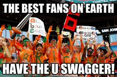 Miami Hurricanes Fans . . . The best on earth!!