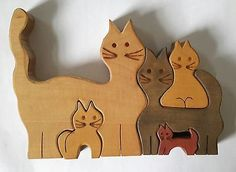 Bilderkiste Lankau Wooden Cats