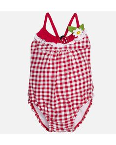 Mayoral Gingham Girl Swimsuit 1