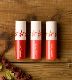 Green christmas jelly tint set::Jelly tint set [3pcs] that makes your lips glow by coating them with a refreshing jelly textured tint