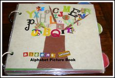 DIY Alphabet Photo Picture Book- You can even add a language learning twist to it and make it bilingual