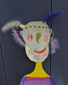 paper puppet done from a child 8 years old