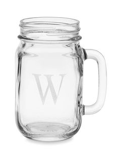 Set of 6 monogrammed drinking jars!