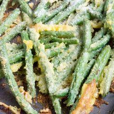 green beans - oven fried garlic parmesan green beans