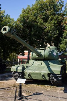 IS-2 Model 1943, Soviet heavy tank. Circa 3395 IS-2 tanks were produced in USSR between 1943 and 1945. Vehicle in the photograph is exhibited at Museum of Polish Arms in Kołobrzeg, Poland.