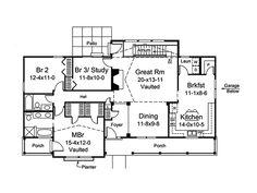 Royalview Atrium Ranch Home Plan 007D-0236   House Plans and More