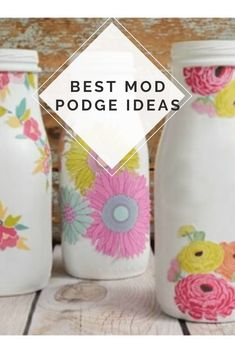 Looking for a fun, and simple craft to make today? Take a look at some of our favorite mod podge ideas and craft projects! All of these projects are super easy to make. With over 30 ideas, there's something you're going to love! Craft Projects For Adults, Diy Crafts For Adults, Easy Craft Projects, Craft Tutorials, Easy Crafts, Adult Crafts, Diy Mod Podge, Mod Podge Crafts, Mod Podge Ideas