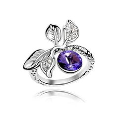 88fb0b9ce785 Swarovski crystal ring love fruit (purple) From Crystaljewelryuk.com Jewellery  Uk