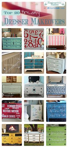 20 Dreamy Dresser Makeovers Furniture Projects, Furniture Making, Home Projects, Home Furniture, Furniture Plans, Refurbished Furniture, Repurposed Furniture, Painted Furniture, Dresser Makeovers