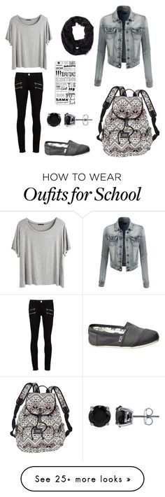 """Back to School After a Long Weekend"" by freeswim on Polyvore featuring Paige Denim, Chicnova Fashion, TOMS, Aéropostale, Victoria's Secret, Casetify, LE3NO, BERRICLE, women's clothing and women's fashion"