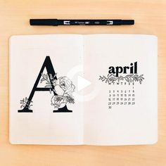 april, art, and blck image #bulletjournal #dailyplan April Bullet Journal, Bullet Journal Notebook, Bullet Journal Ideas Pages, Bullet Journal Inspo, Bullet Journal Spread, Bullet Journal Layout, Book Journal, Journals, Journal Inspiration