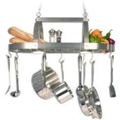 I want this! Checkolite Pot Rack with Down Lights