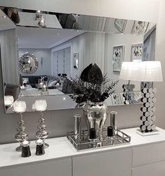 white room decor Colors For the Small Bedroom Black and White Eternity For the Small Bedroom Glam Living Room, Living Room Decor Cozy, Decor Room, Kid Decor, Wall Decor, Black And Silver Bedroom, Bedroom Black, Living Room Decor Black And White, Black Silver