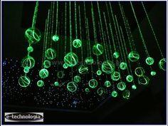 Lampy, Lampy LED, Żyrandole Światlowodowe E-TECHNOLOGIA , nowoczesne lam...