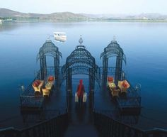 Built on a four acre island on Lake Pichola in Udaipur, India, is the Taj Lake Palace resort. Honestly, magnificent, right? Each of the 83 suites in the 263 year old former palace epitomizes royal grandeur with opulent… Travel Destinations In India, India Travel, Wedding Destinations, Best Resorts, Hotels And Resorts, Luxury Hotels, Luxury Travel, Beautiful Hotels, Beautiful Places
