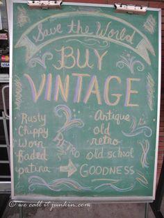 buy vintage chalkboard sign thrift store shop