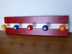 Poolball Coat Rack - Red