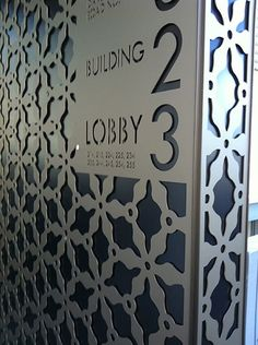 perforated metal signage - Google Search
