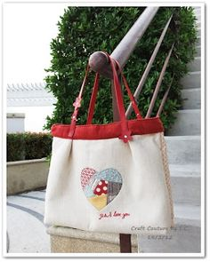 Craft Couture by T.C.: Tutorial - P.S. I Love You Bag - Part II : Constructing and Finishing the Bag