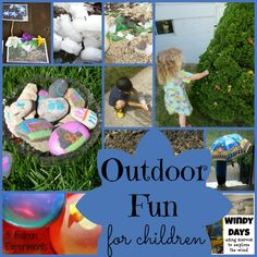 Outdoor Fun with Children -- 10 creative, fun, and engaging ways for kiddos to further explore the outdoors