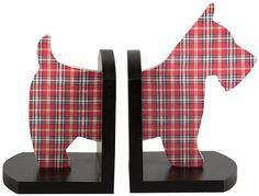 Winston Scottie Dog Tartan Scottish Bookends: Amazon.de: Küche & Haushalt