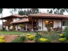 Farms, Colonial, Facade, Ali, Pergola, Outdoor Structures, Mansions, House Styles, Youtube