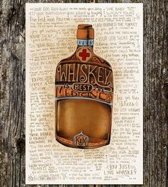 The Many Good Reasons to Drink Whiskey Art Print