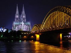 Cologne-Köln - The Dom and the Hohenzollernbrücke at night
