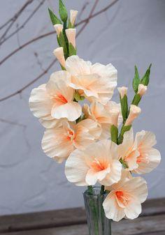 Crepe Paper Gladiolus Flower 18 inch stem by DiddleBug on Etsy